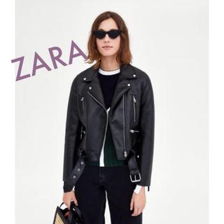 ザラ(ZARA)の今期ZARA レザーライダースジャケットXS ダブルライダース(ライダースジャケット)