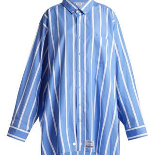 バレンシアガ(Balenciaga)のvetements  ストライプシャツ(シャツ)