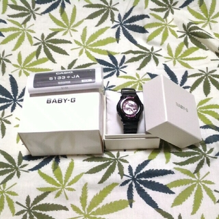 ベビージー(Baby-G)の電波ソーラー 腕時計 CASIO Baby-G bga-1030st 文字ピンク(腕時計)