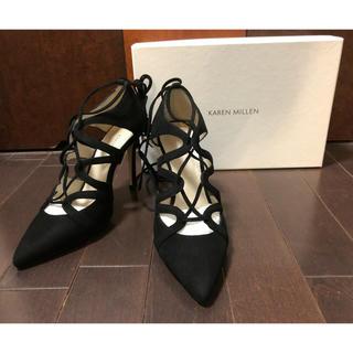 カレンミレン(Karen Millen)の新品 カレンミレン パンプス ヒール サンダル 黒 英国 フォーマル 婦人靴(ハイヒール/パンプス)