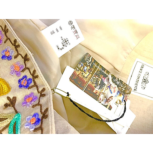 GRACE CONTINENTAL(グレースコンチネンタル)のGRACE CONTINENTAL 総刺繍ジャケット レディースのジャケット/アウター(ブルゾン)の商品写真