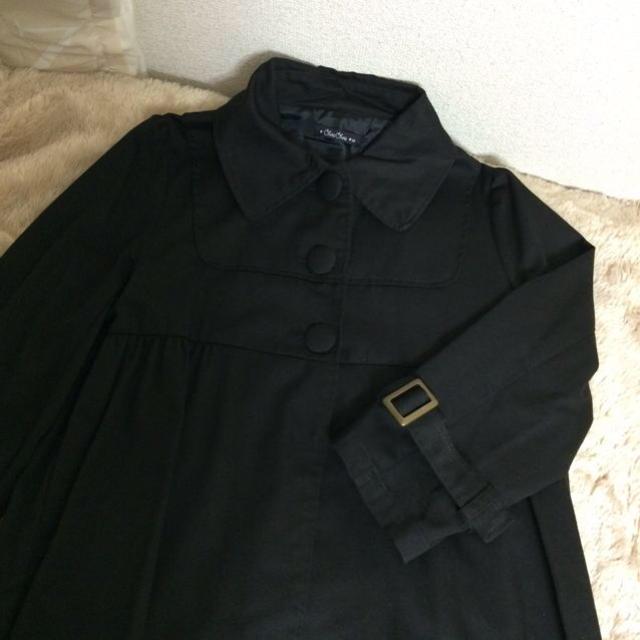 ブラック コート レディースのジャケット/アウター(トレンチコート)の商品写真