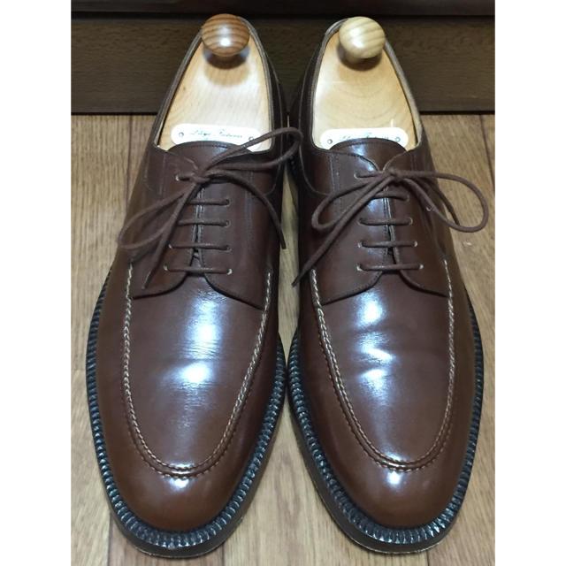 SILVANO LATTANZI(シルバノランタンジ)のシルバノラッタンジ ジンターラ ブラウン 茶 ジョンロブ オールデン コードバン メンズの靴/シューズ(ドレス/ビジネス)の商品写真