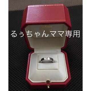 カルティエ(Cartier)のカルティエ・1pダイヤWGミニラブリング・サイズ54(リング(指輪))
