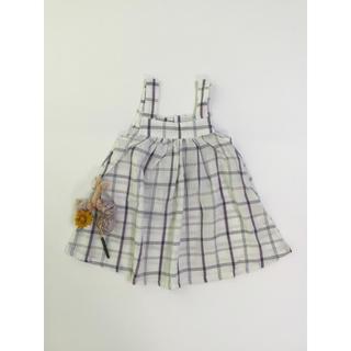 韓国子供服 チェック柄ワンピース(ワンピース)