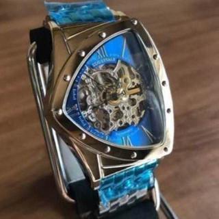 コグ(COGU)の新品✨コグ COGU フルスケルトン 自動巻き 腕時計 BS0TM-BL(腕時計(アナログ))