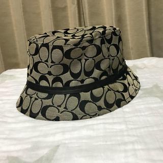コーチ(COACH)の美品 coach 帽子 シグネチャー ハット 正規品(ハット)