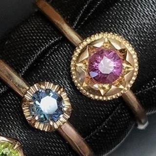 アッシュペーフランス(H.P.FRANCE)の美品 tatsuo nagahata サファイアリング(リング(指輪))