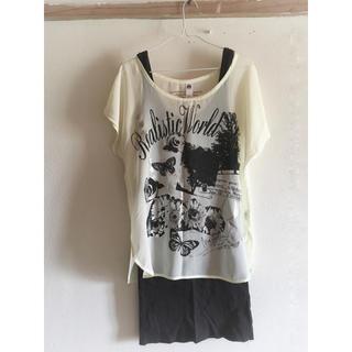 アンクワイエット(ANQUIET)のアンクワイエット シフォン Tシャツ(Tシャツ(半袖/袖なし))
