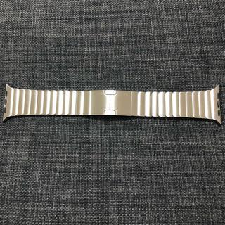 アップルウォッチ(Apple Watch)の【超美品】純正 apple watch 42mm リンクブレスレット シルバー(金属ベルト)