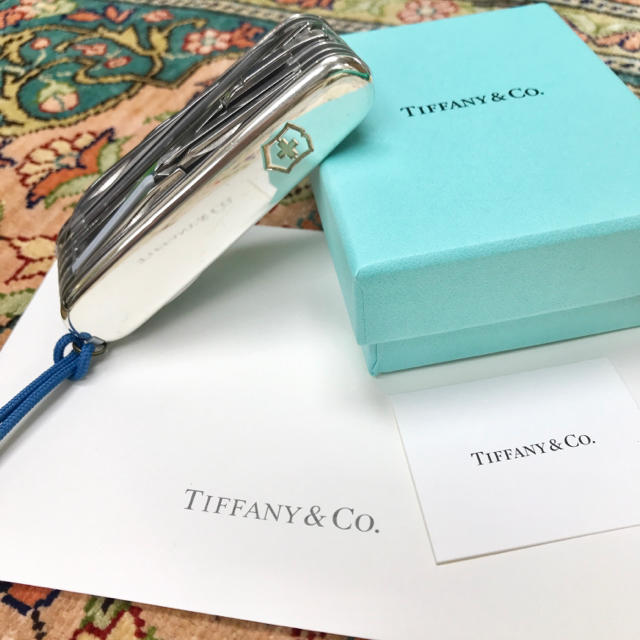 Tiffany & Co.(ティファニー)のTIFFANY特注 VICTRINOX  スイスチャンプ 超希少 SV+18K インテリア/住まい/日用品の日用品/生活雑貨/旅行(旅行用品)の商品写真