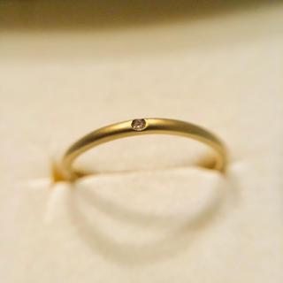 K10 マット加工 ブラウンダイヤ リング(リング(指輪))