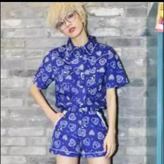 エイミーインザバッティーガール(Aymmy in the batty girls)のAymmy in the batty girls ペイズリー柄シャツ(Tシャツ(半袖/袖なし))