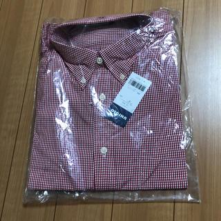 ユニクロ(UNIQLO)の赤色 チェック UNIQLO 未使用 長袖 シャツ XL(Tシャツ/カットソー(七分/長袖))