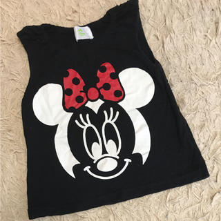 ディズニー(Disney)のミニーちゃん ディズニー タンクトップ 子供服(タンクトップ/キャミソール)