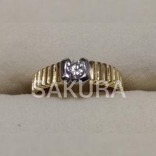 👛送料無料👛新品・未使用 自宅保管 プラチナ ゴールド ダイヤモンド リング(リング(指輪))