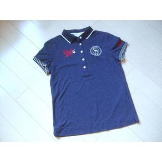 アダバット(adabat)のアダバット ゴルフ ポロシャツ レディース 紺★38(ウエア)