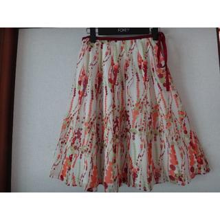 オールドイングランド(OLD ENGLAND)の定価4.7万円 オールドイングランド シルクスカート 36(ひざ丈スカート)