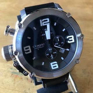 コグ(COGU)の新品✨コグ COGU クオーツ クロノ メンズ 腕時計 C61-BK ブラック(腕時計(アナログ))