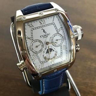 コグ(COGU)の新品✨コグ COGU 自動巻き メンズ 腕時計 C62-WBL ホワイト/ブルー(腕時計(アナログ))