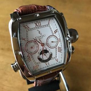 コグ(COGU)のコグ COGU 自動巻き メンズ 腕時計 C62-WBL ホワイト/ブルー(腕時計(アナログ))