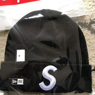 シュプリーム(Supreme)のsupreme newera s logo Beanie black(ニット帽/ビーニー)