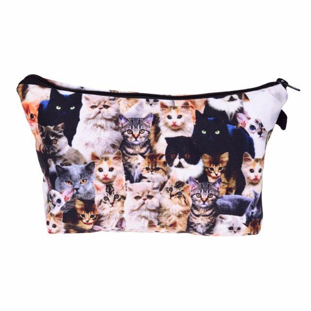 猫ポーチ 猫コスメポーチ 猫小物入れ 沢山の猫ちゃん♪ 新品未使用品 レディースのファッション小物(ポーチ)の商品写真