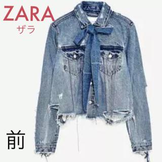 ZARA - ZARA リボン付きデニムジャケット