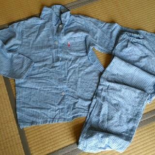 エドウィン(EDWIN)のレディースパジャマ Lサイズ 青紫チェック柄 黄ばみ有り(パジャマ)