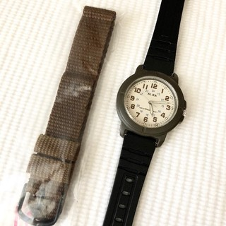 アルバ(ALBA)のALBA ミリタリー風 メンズクォーツ腕時計 電池あり(腕時計(アナログ))