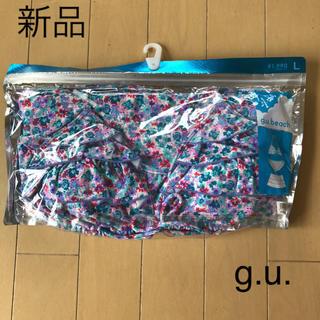 ジーユー(GU)の新品☆ジーユー 花柄ビキニ3点セット 水着(水着)