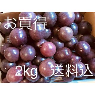 パッションフルーツ  サイズ混合  送料込  2kg   【台風接近本日値下】(フルーツ)