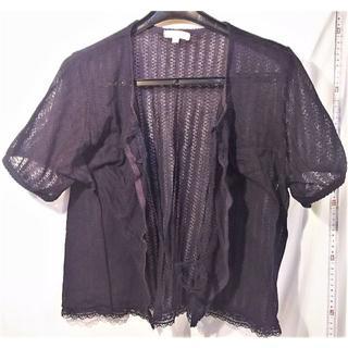 シャツ 紐締め シースルー黒 300(シャツ/ブラウス(半袖/袖なし))