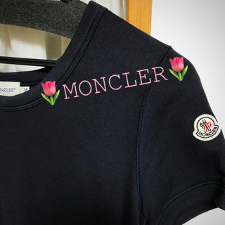 モンクレール(MONCLER)の🌷モンクレール🌷 稀少  ワンピース ネイビー 🌷(ひざ丈ワンピース)