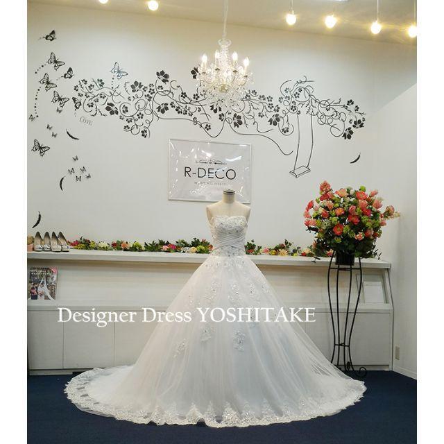 ウエディングドレス(パニエ無料サービス) 挙式/ロングドレーン レディースのフォーマル/ドレス(ウェディングドレス)の商品写真