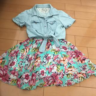 シマムラ(しまむら)の花柄スカート&半袖シャツ 150(スカート)