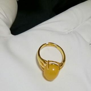 激レア 純銀製AAAロイヤルアンバーリング 15号(リング(指輪))
