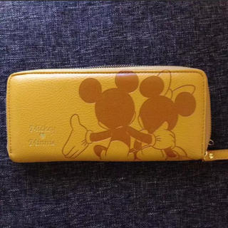 ディズニー(Disney)の☆新品、未使用☆ disney mickey & minnie 長財布 イエロー(財布)