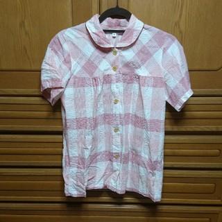 エドウィン(EDWIN)のほぼ未使用♪EDWIN、レッドピンクチェック柄パジャマセット、シャツパンツ、上下(パジャマ)