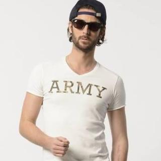 ダブルジェーケー(wjk)のwjk army Tシャツ ホワイト Lサイズ(Tシャツ/カットソー(半袖/袖なし))