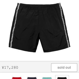 シュプリーム(Supreme)のsupreme tonal taping water shorts 黒 XL(ショートパンツ)