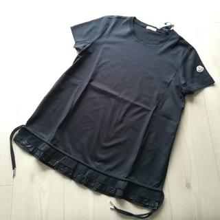 モンクレール(MONCLER)のMサイズ ブラック 裾フリルTシャツ モンクレール(Tシャツ(半袖/袖なし))