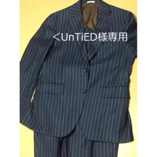 <UnTiED様専用>【美品】メンズ スーツ 上下セットウール Mサイズ(セットアップ)