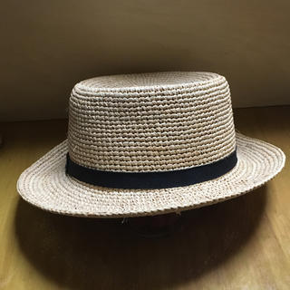 ムジルシリョウヒン(MUJI (無印良品))の(MUJI)無印良品 ラフィアカンカン帽 (麦わら帽子、ストローハット)(麦わら帽子/ストローハット)