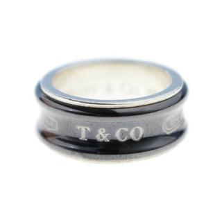 ティファニー(Tiffany & Co.)のティファニー◇1837チタン×シルバーコンビワイドリング指輪7,5号(リング(指輪))