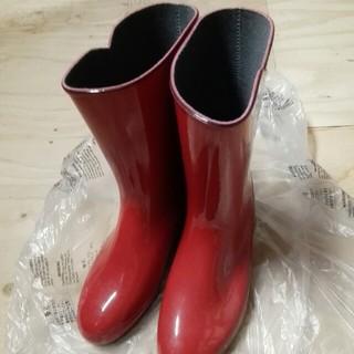 長靴 24.5cm  赤 コスプレ(レインブーツ/長靴)
