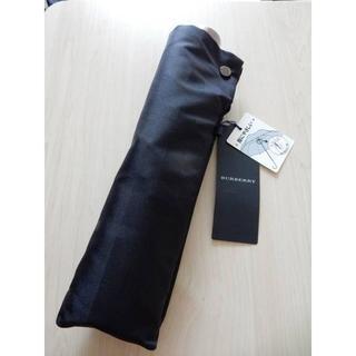 バーバリー(BURBERRY)の新品タグ付■バーバリー■紳士 折りたたみ傘 黒 シャドーチェック(傘)