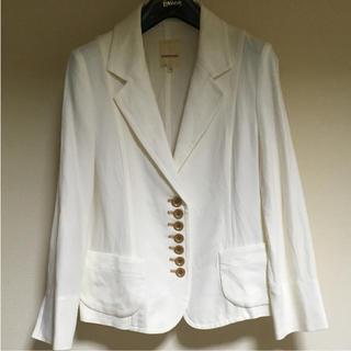 エミスフィール(HEMISPHERE)のHEMISPHERES 白 ジャケット(テーラードジャケット)