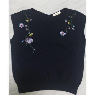マイストラーダ(Mystrada)の美品 マイストラーダの刺繍サマーニット(ニット/セーター)
