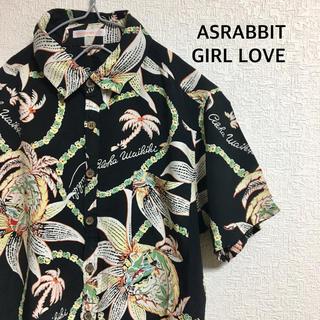 エーズラビット(Asrabbit)の古着 ASRABBIT GIRL LOVE aloha shirt(シャツ/ブラウス(半袖/袖なし))